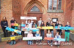 Gruppenfoto Plankenaktion St. Marien Winsen (Luhe)